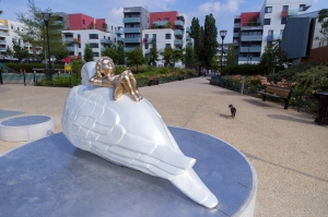 Paloma, de Ghyslain BERTHOLON , oeuvre issue du 1% artistique, dans le quartier Balzac à Vitry