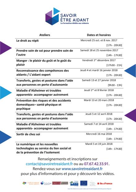 SEA - Formation présentielle - dates et horaires HD